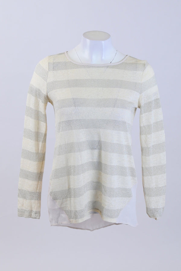 Glittery Stripe Print Top
