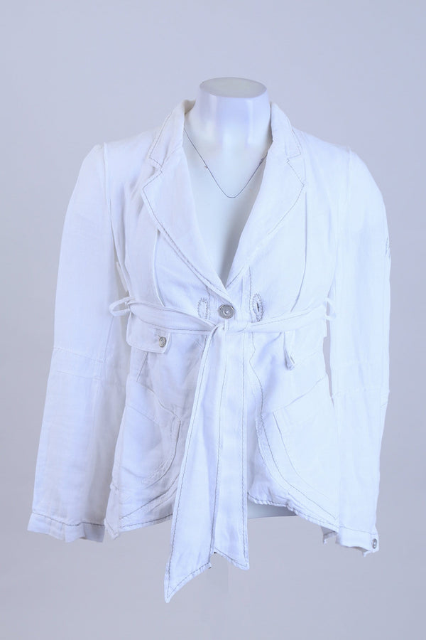 Tied Front Button Up Jacket