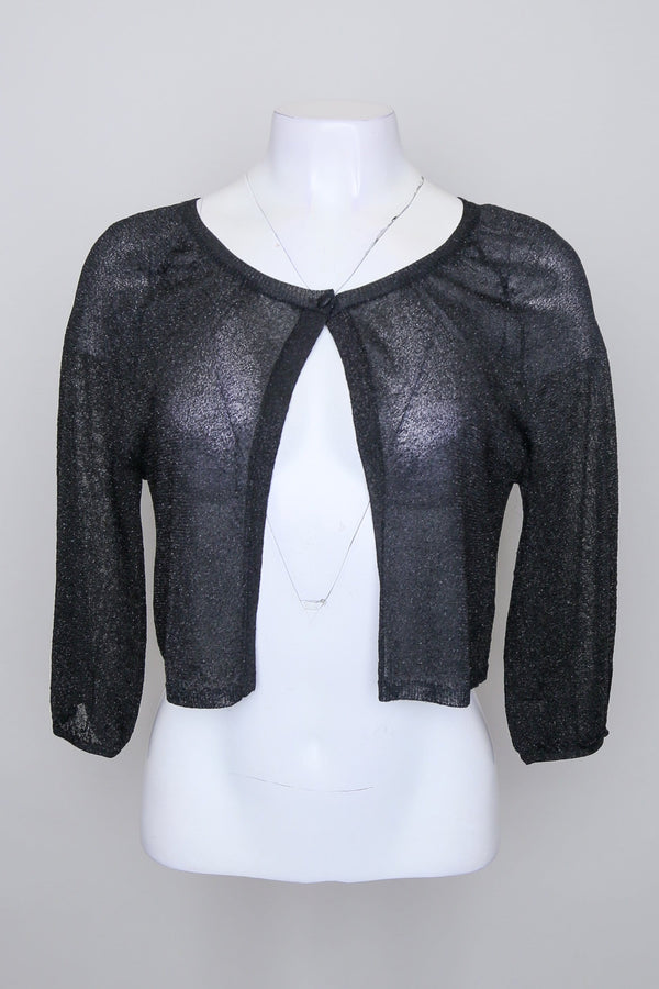 Glittery Long Sleeve Cardigan