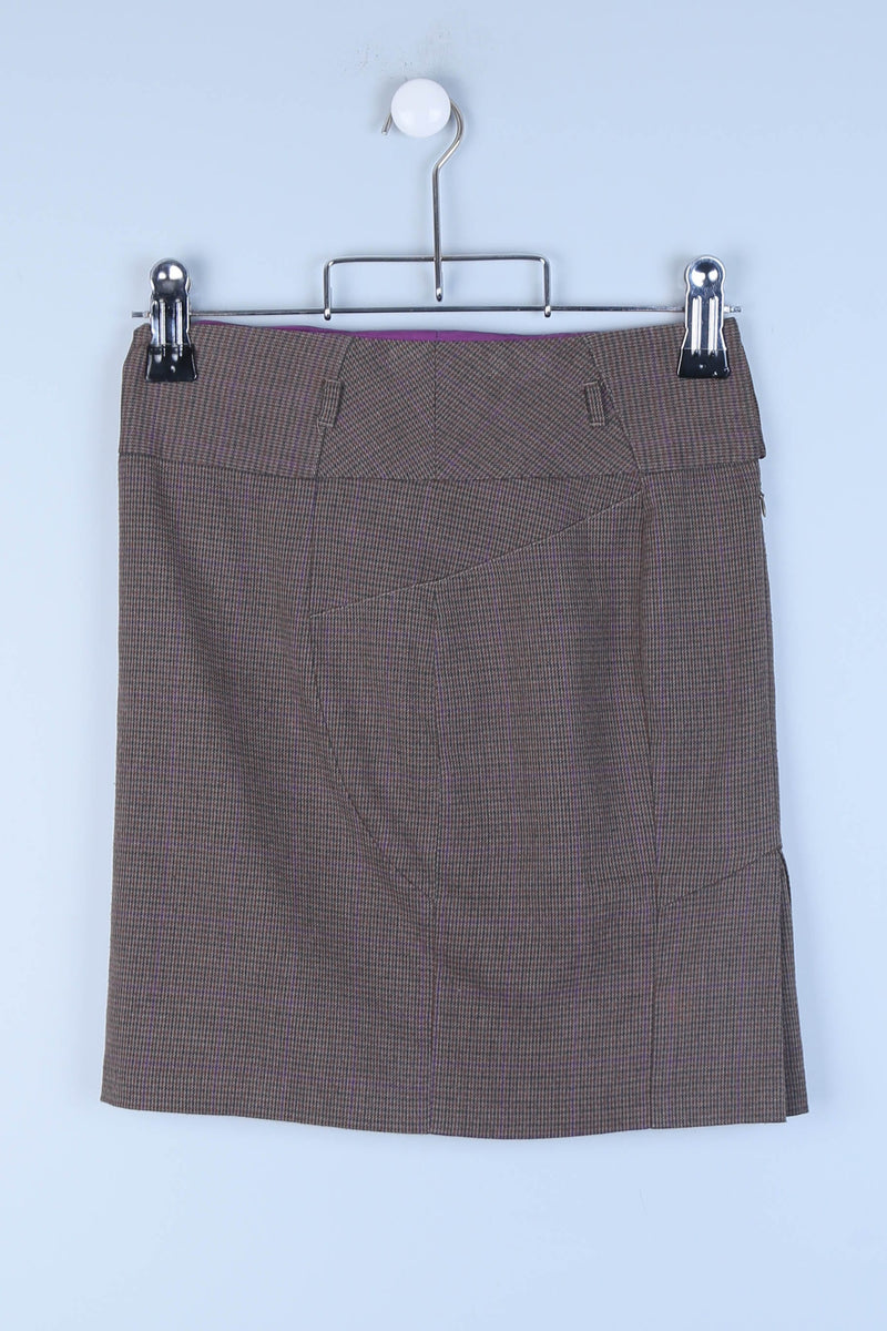 Tailored Patterned Skirt