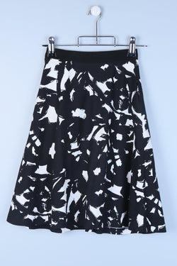 Petite Patterned Midi Skirt