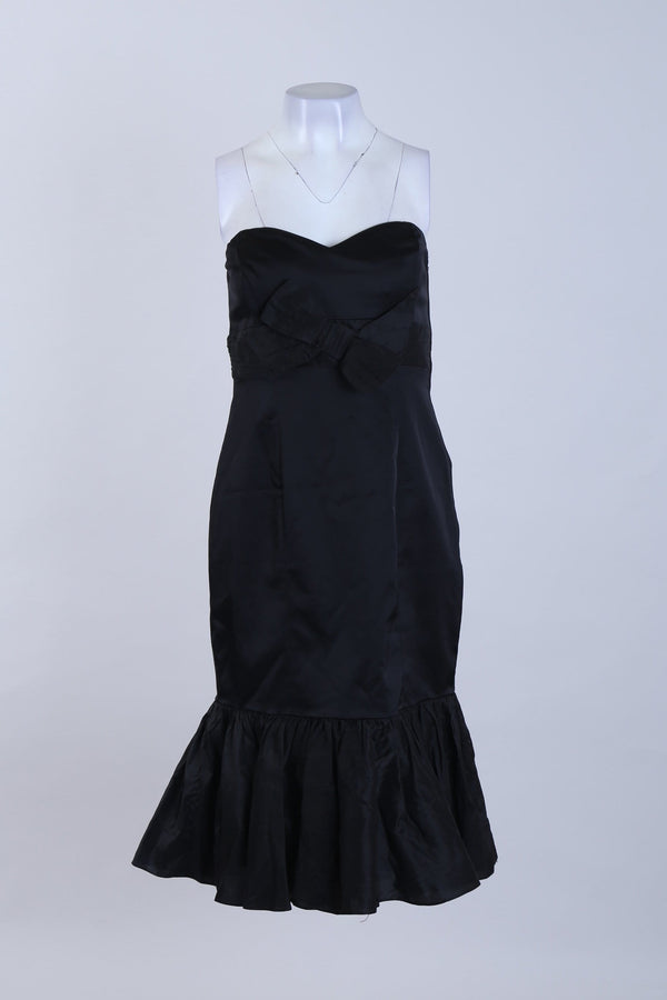 Strapless Hem detailed Dress