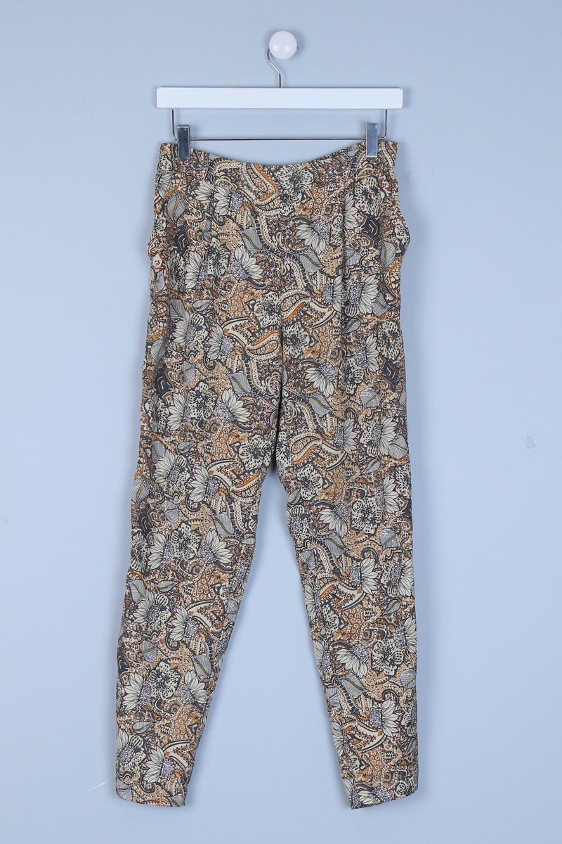 Floral Patterned Trousers with Pockets