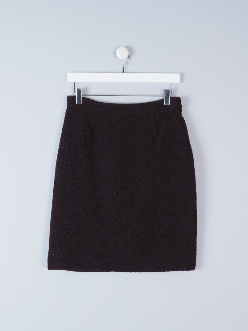 Textured Pencil Mini Skirt