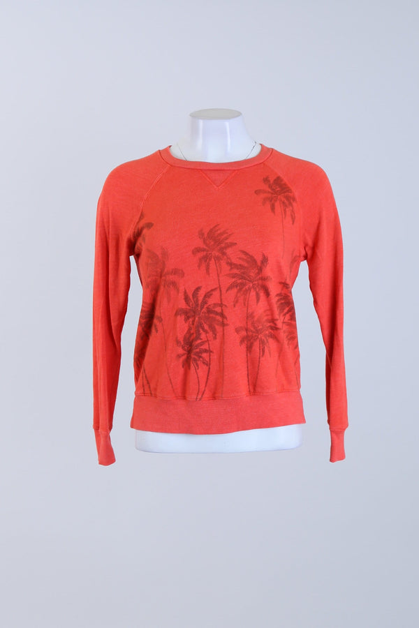 Palm Tree Print Jumper
