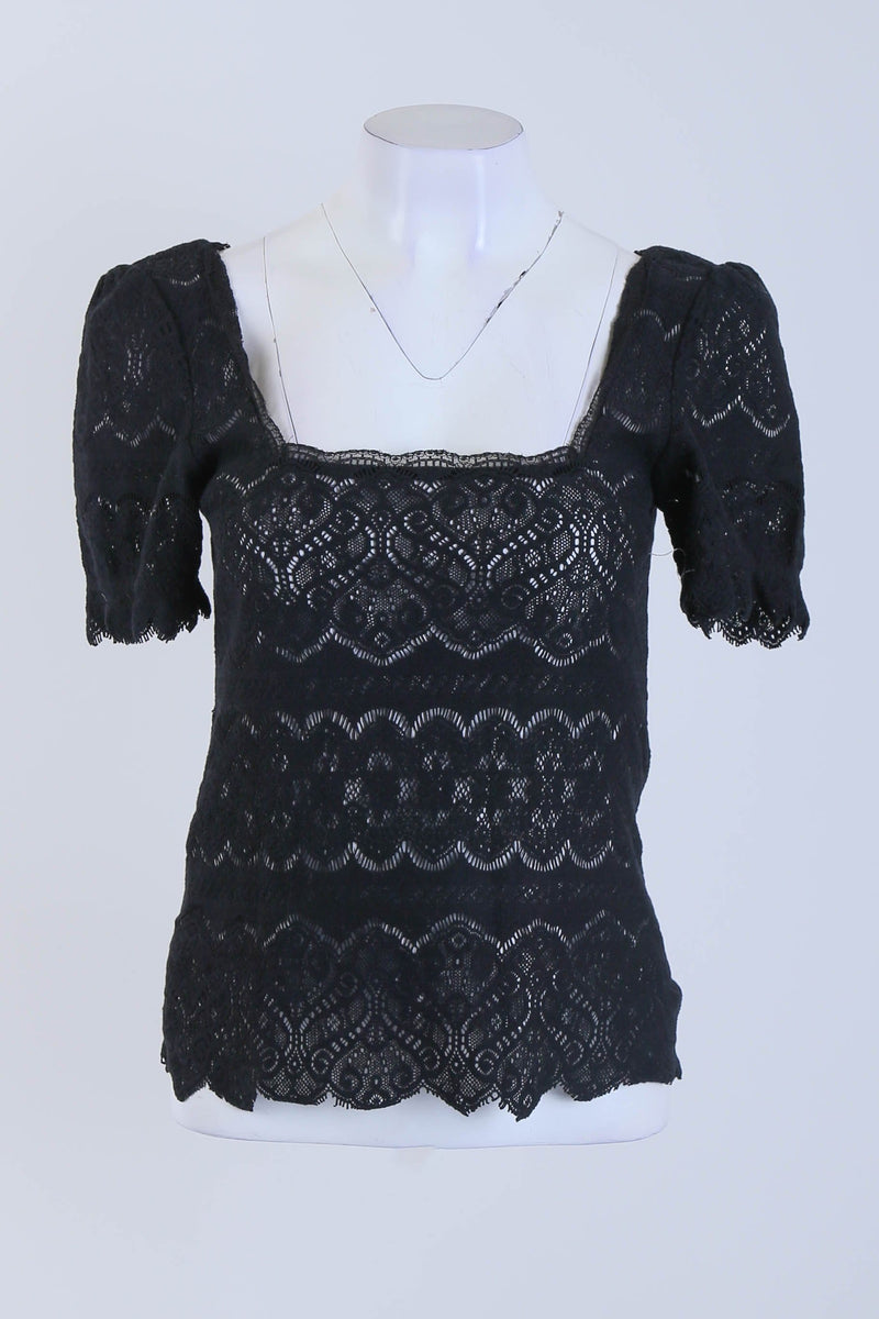 Lace Detailed Top