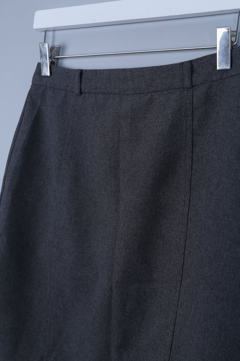 Tailored Midi Skirt with Back Slit