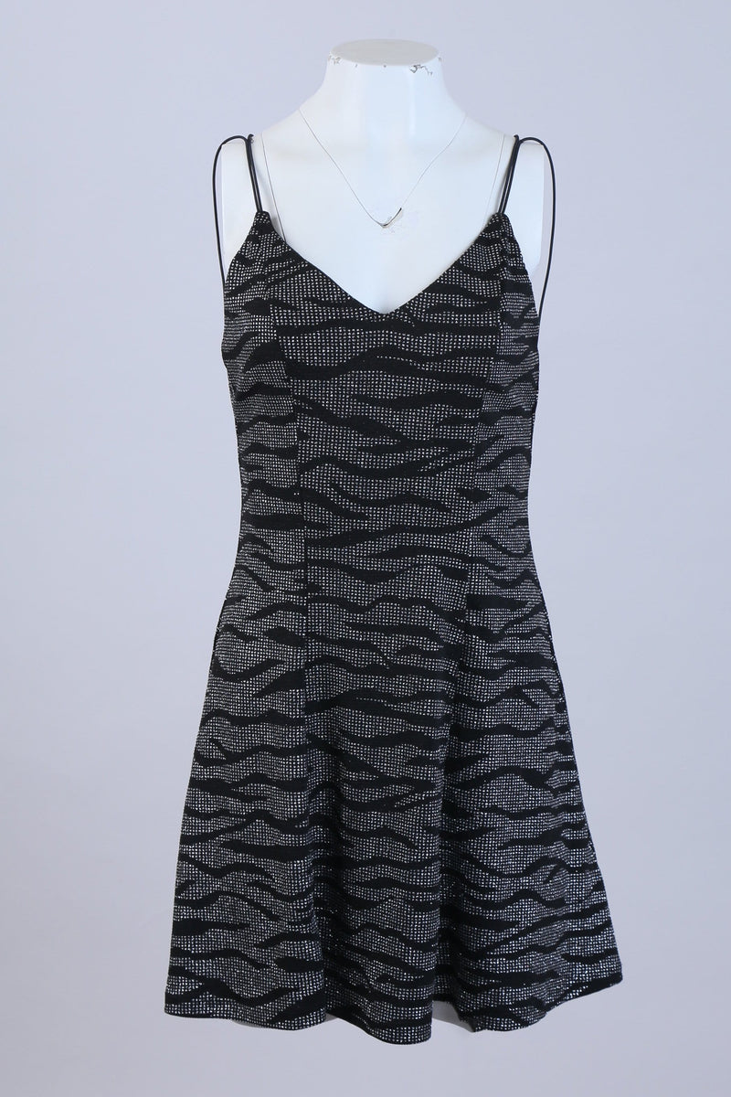 Glittery Patterned Bodycon Party Dress