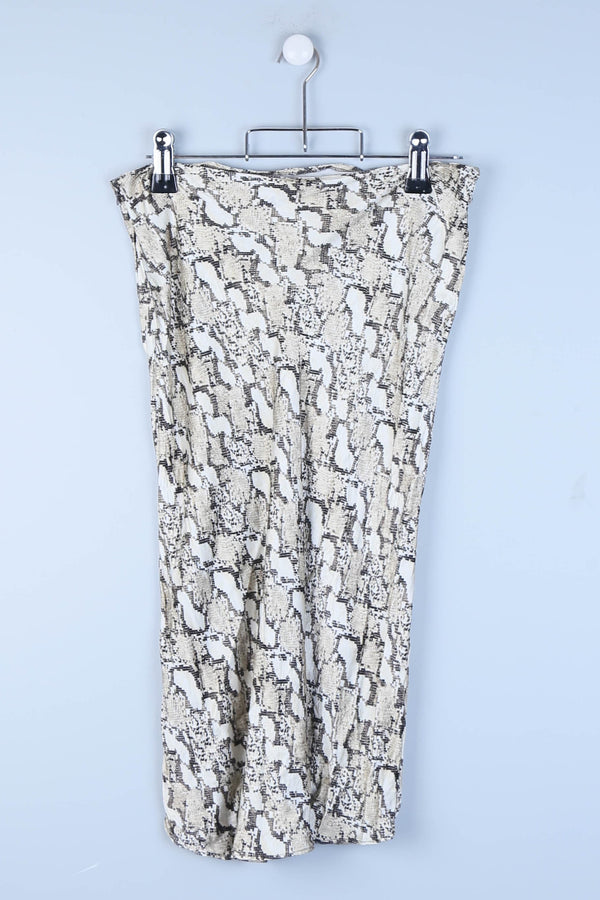 Snake Pattern Lightweight Midi Length Skirt