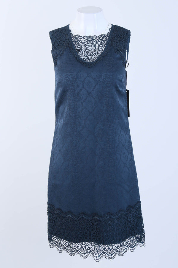 Lace Jacquard Shift Dress
