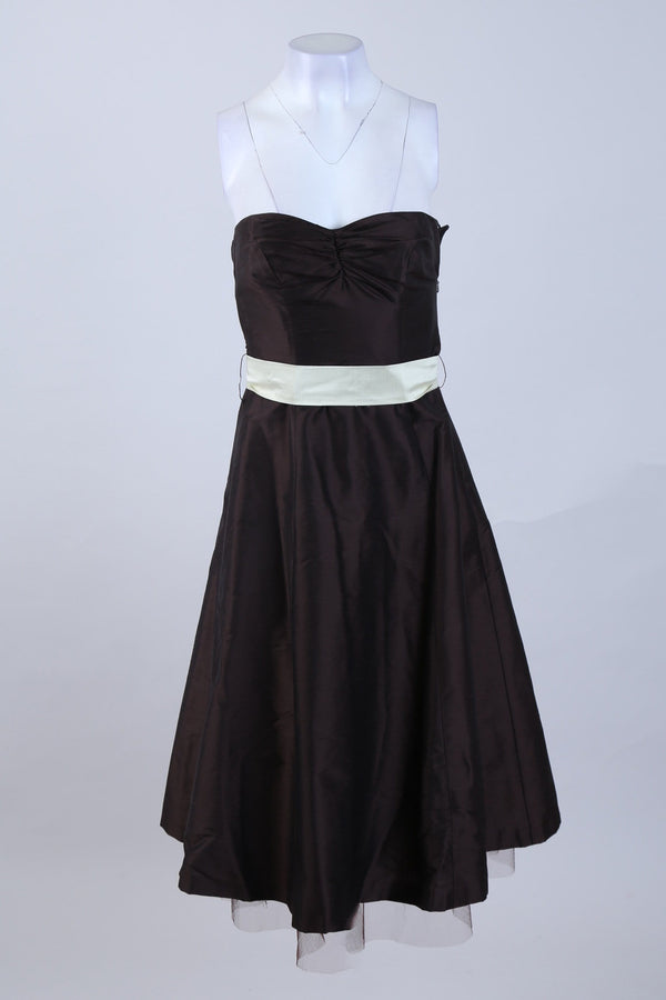 Strapless Waist Tie Dress