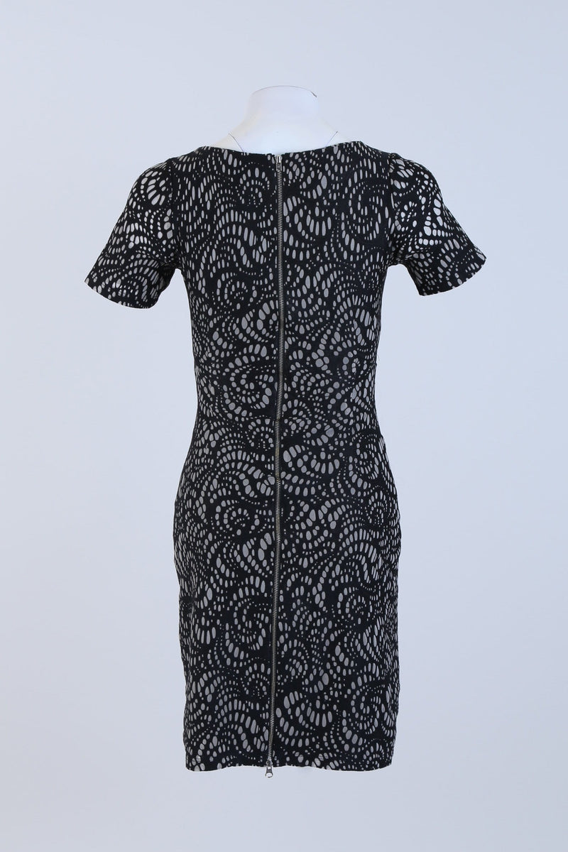 Patterned Bodycon Dress