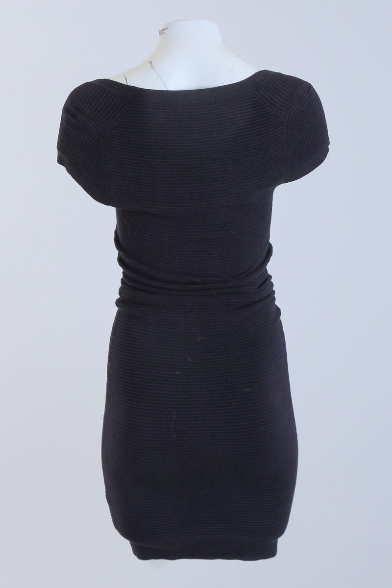 Ribbed Round Neck Dress