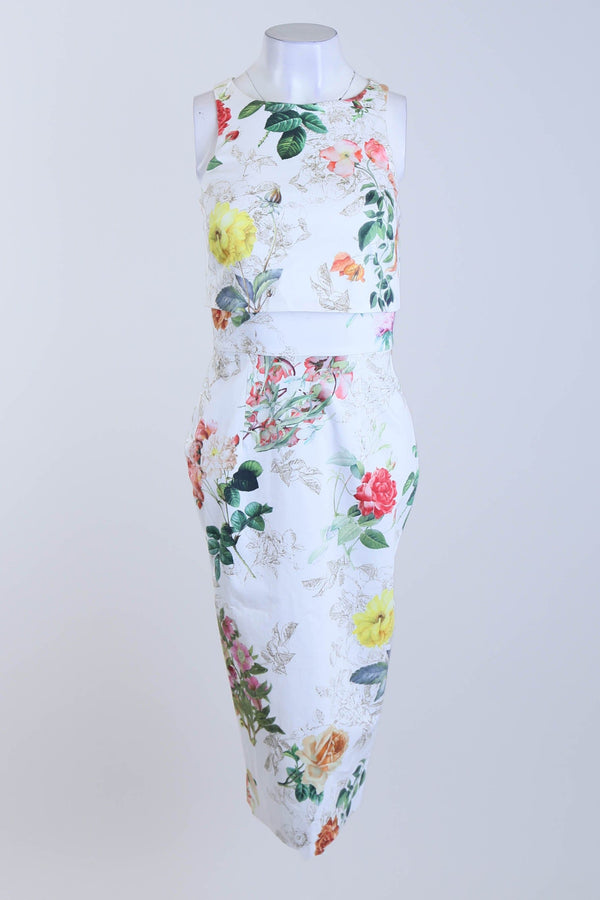 Floral Balloon Sleeve Dress