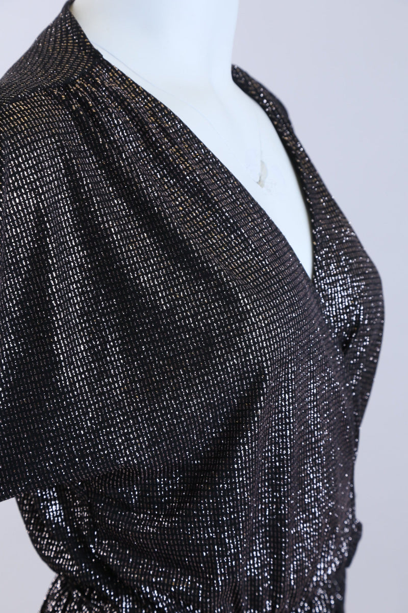 Glittered Wrap Belted Playsuit