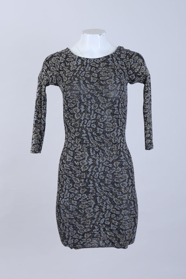 Glittered Scoop Neck Bodycon Dress