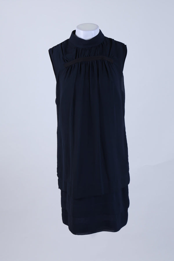 High Neck Layered Swing Dress