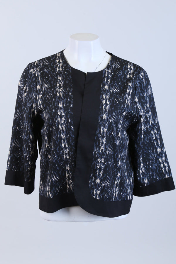 Patterned Long Sleeve Jacket