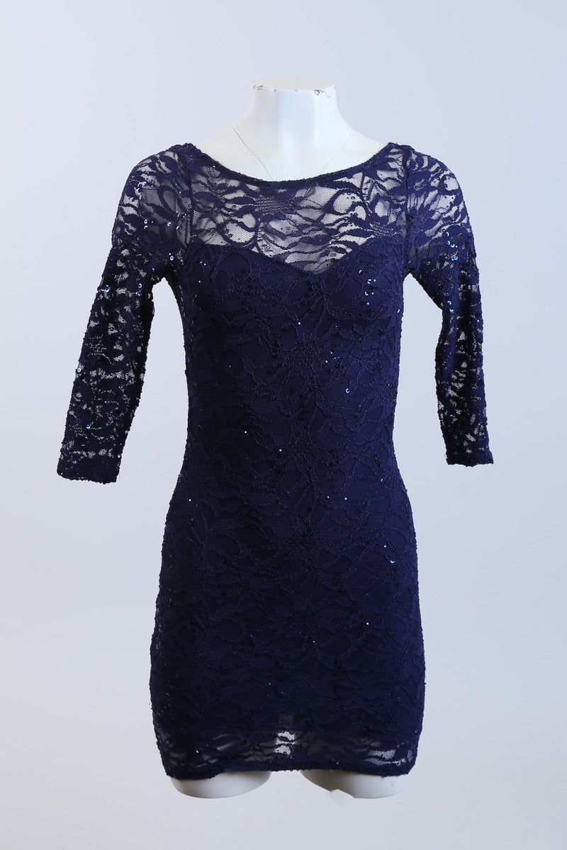 Sequined Patterned Dress