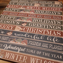 Load image into Gallery viewer, Christmas Variety Sayings Block, Assorted