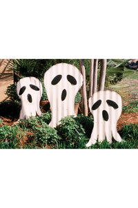 set of 3 corrugated ghosts yard art