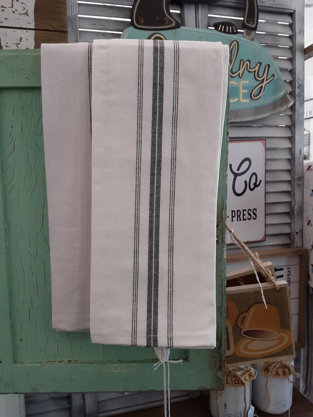 Classic stripes dish towel