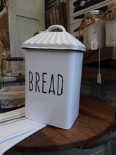 Load image into Gallery viewer, Upright enamel bread box