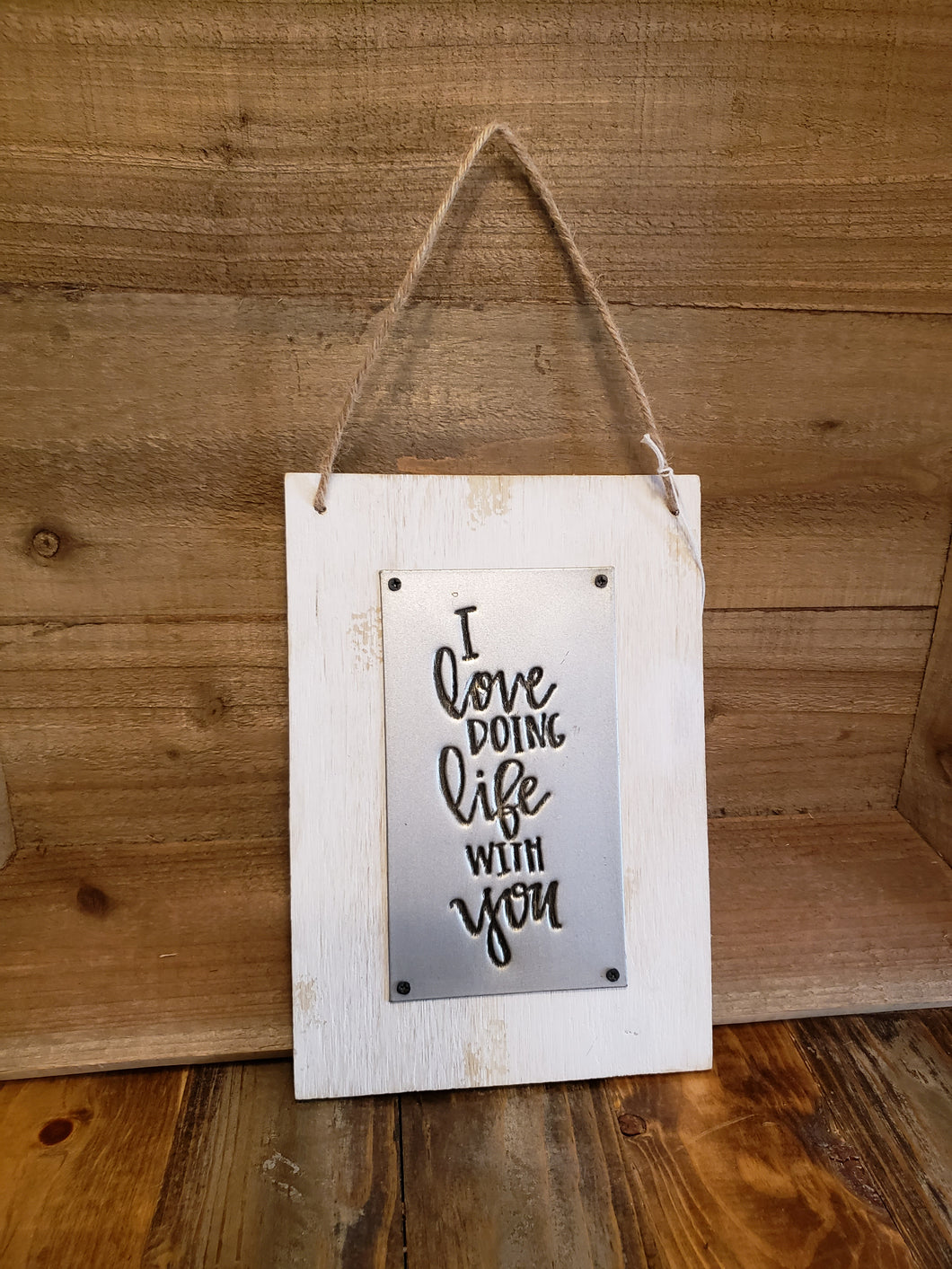 Hanging Wood Sign