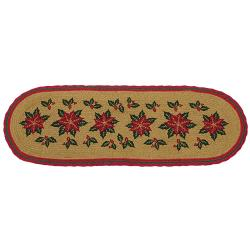 Poinsettia Jute Runner