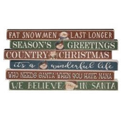 Christmas Variety Sayings Block, Assorted