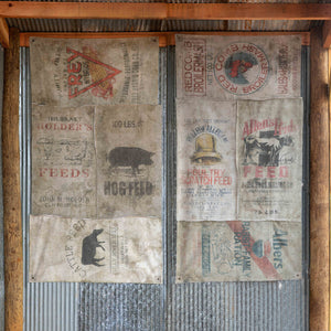 Make-Do Feed Sack Window Covers