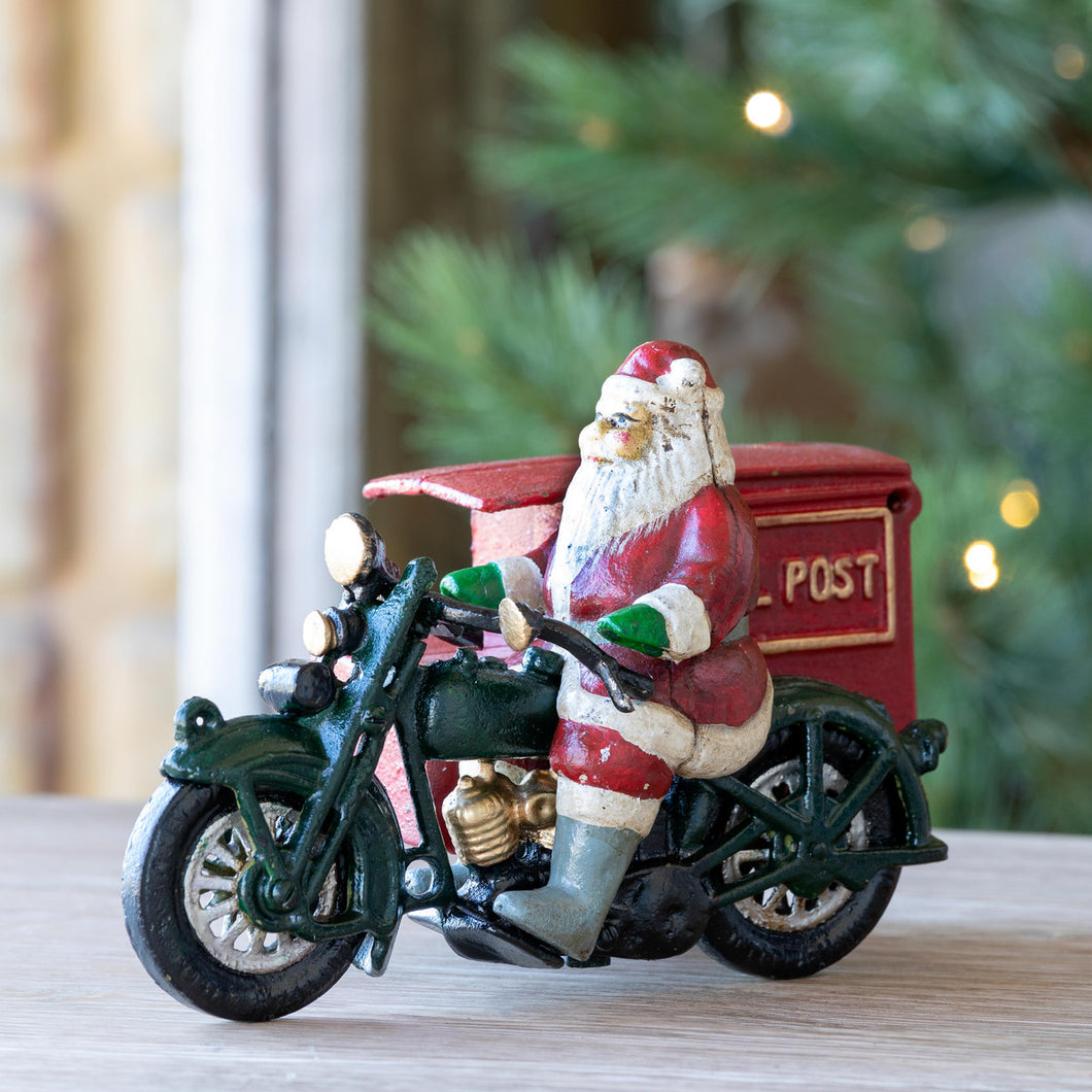 Cast Iron Santa on Parcel Post Cycle