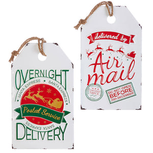 EXPRESS MAIL TAG ORNAMENT