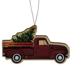 Fresh Cut Tree Truck Ornament