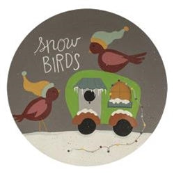 Snow Birds Camper Plate