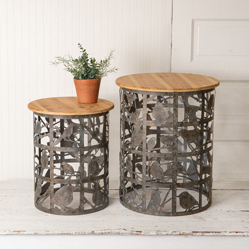 Bird Cutout Side Tables