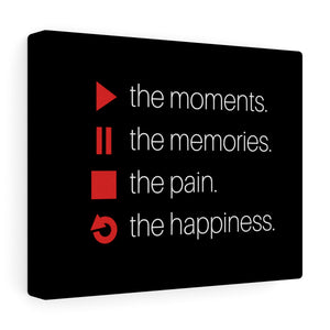 Play The Moments Canvas Frame