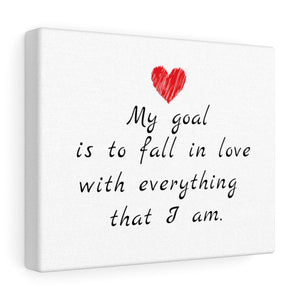 My Goal Is To Fall In Love Canvas Frame