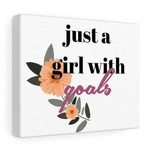 A Girl With Goals Canvas Frame