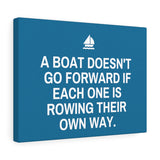A Boat Doesn't Go Forward Canvas Frame