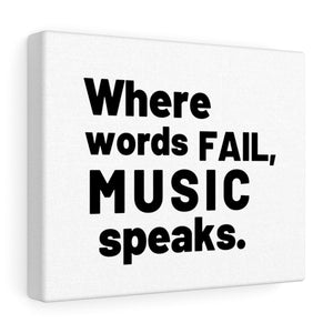 Music Speaks Canvas Frame