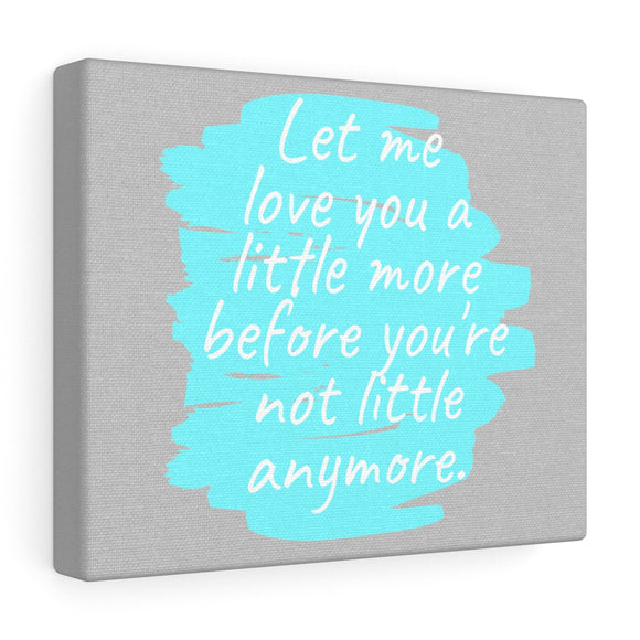 Love You A Little More Canvas Frame