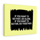 Go Together Canvas Frame