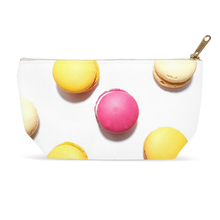 Pink & Yellow Macarons Accessory Pouches