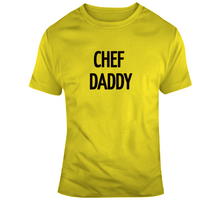 Chef Daddy T Shirt-Yellow & Black