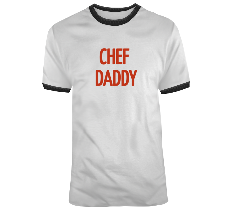 Chef Daddy T Shirt-Red, Black, White
