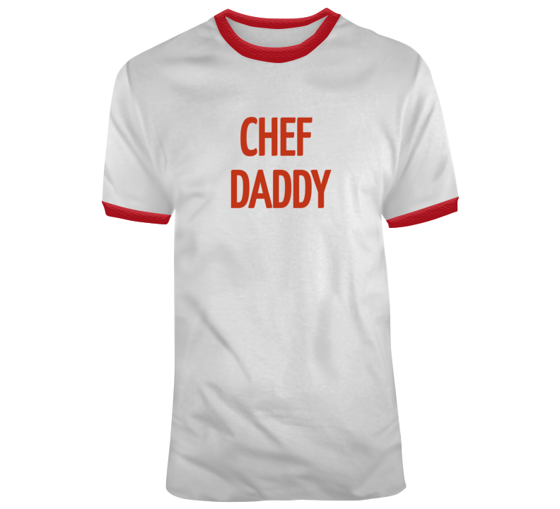 Chef Daddy T Shirt-Red and White
