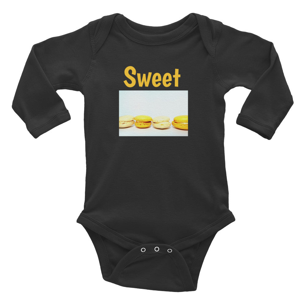 Infant Long Sleeve Bodysuit-Sweet