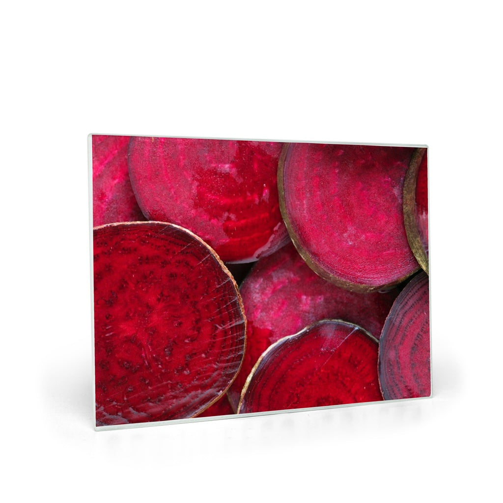 Red Beets Glass Cutting Boards