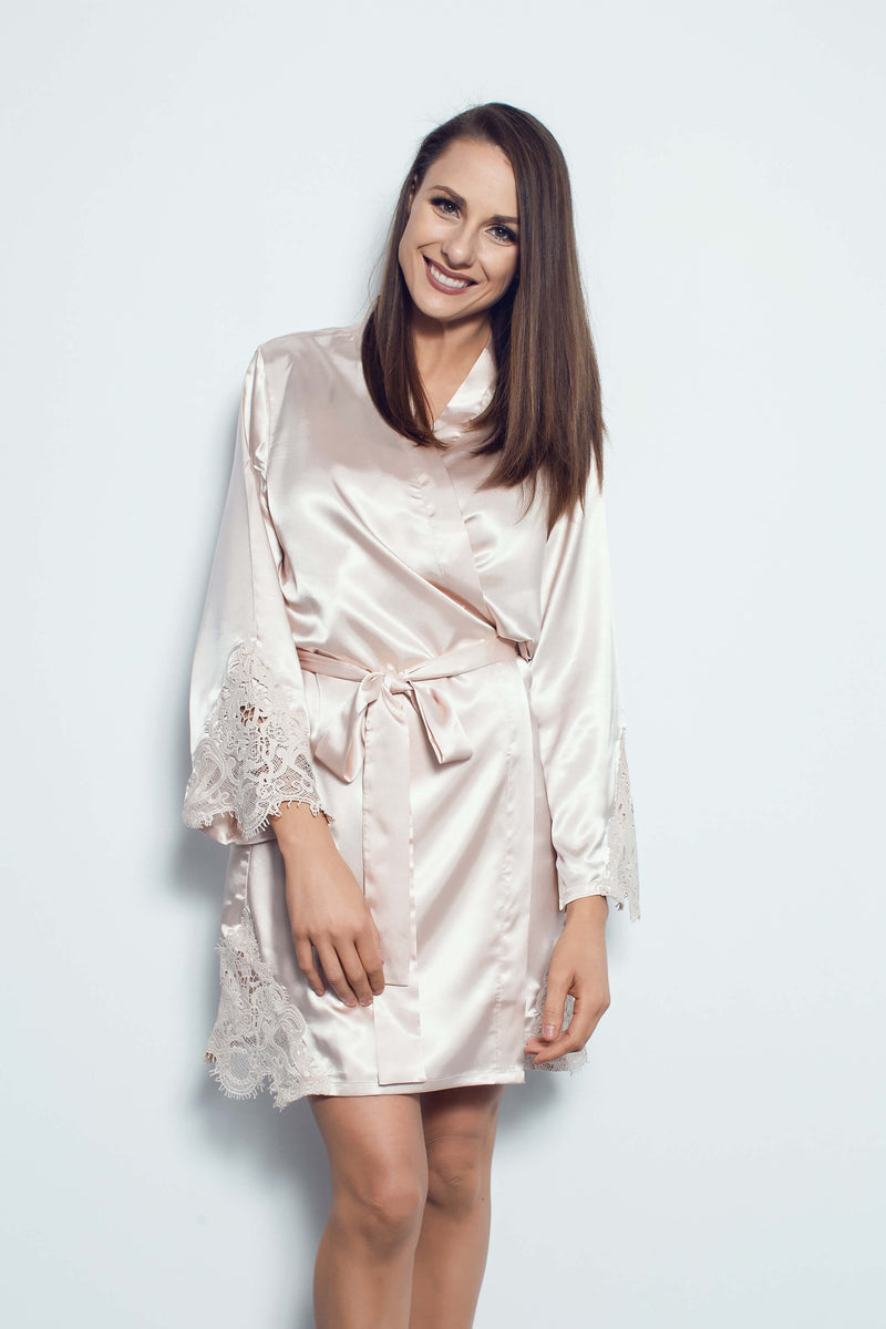 Gold bridesmaid robes NZ